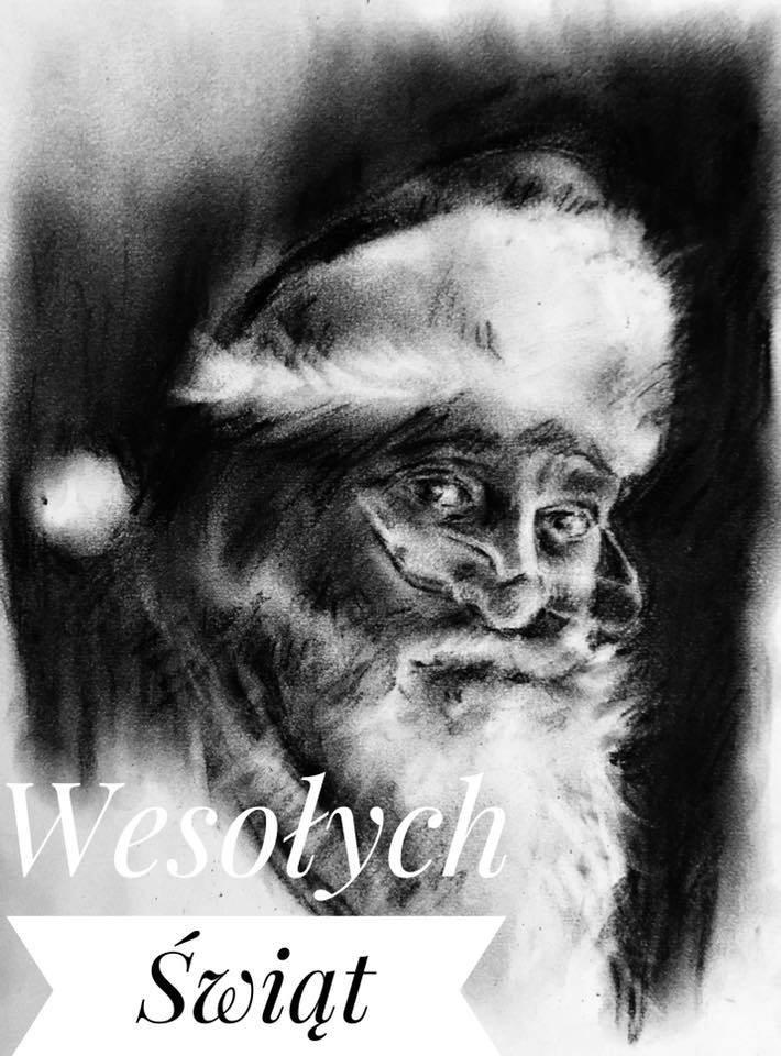 Kartka świąteczna autorstwa dra Tomasza Wiatra /