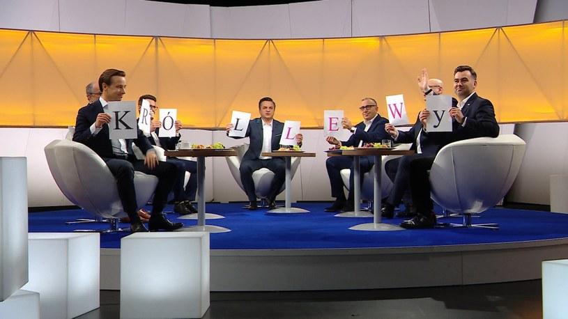 """""""Kartoniada"""" dla Roberta Lewandowskiego w programie """"Śniadanie Rymanowskiego w Polsat News i Interii"""" /Polsat News"""