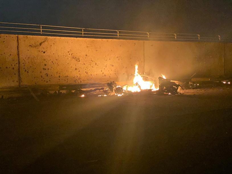 Kasem Sulejmani został zabity w nocy z czwartku na piątek w Bagdadzie w rezultacie amerykańskiego ataku rakietowego /IRAQ'S SECURITY MEDIA CELL HANDOUT /PAP/EPA