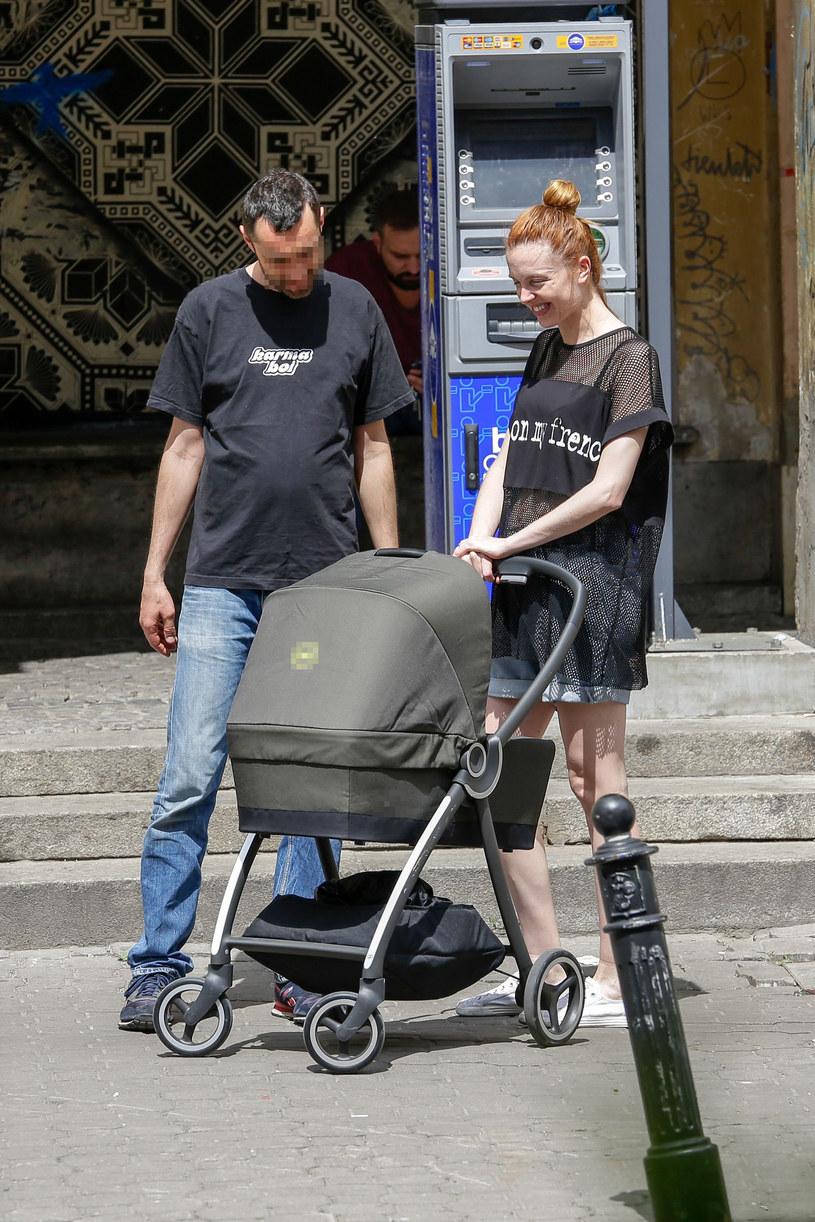Kasia Burzyńska z synem /Foto IP