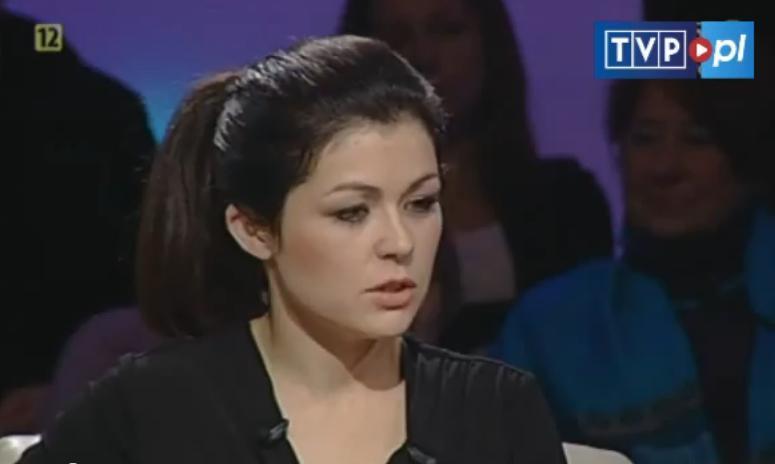 Kasia Cichopek w programie Lisa (screen: tvp.pl) /materiał zewnętrzny
