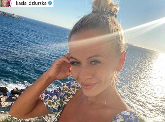 Kasia Dziurska pochwaliła się zdjęciami z wakacji /Instagram