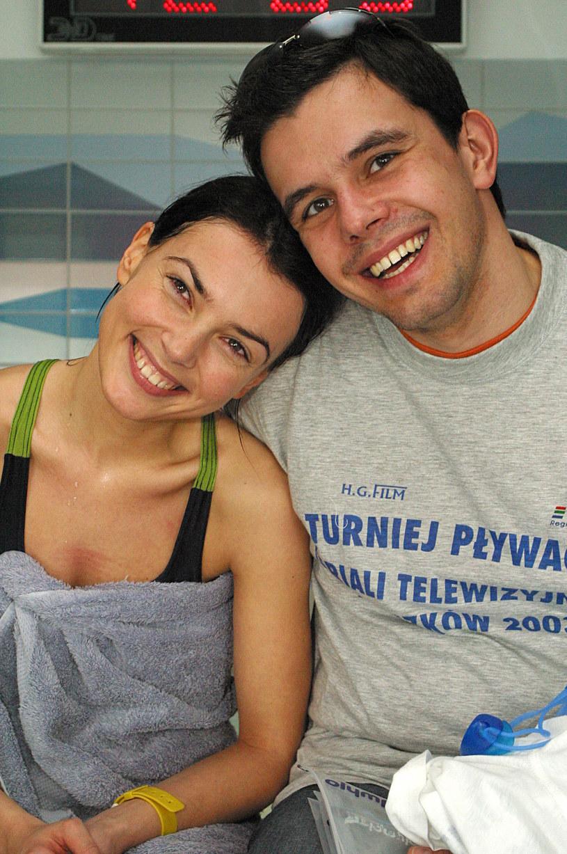 Kasia Glinka i Przemysław Gołdon w 2003 roku /Rafał Maciąga /Agencja FORUM