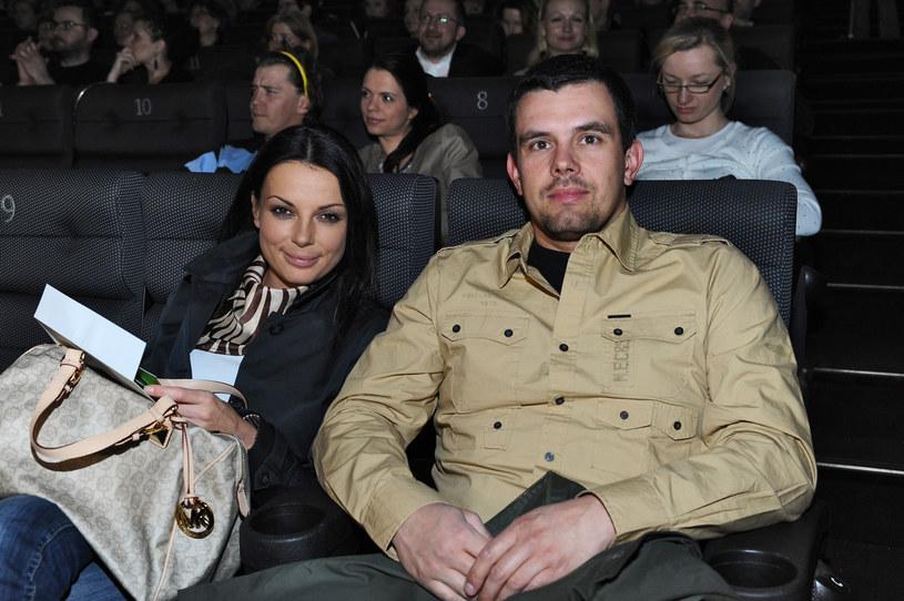 Kasia Glinka z byłym mężem Przemkiem Gołdonem /Andras Szilagyi /MWMedia