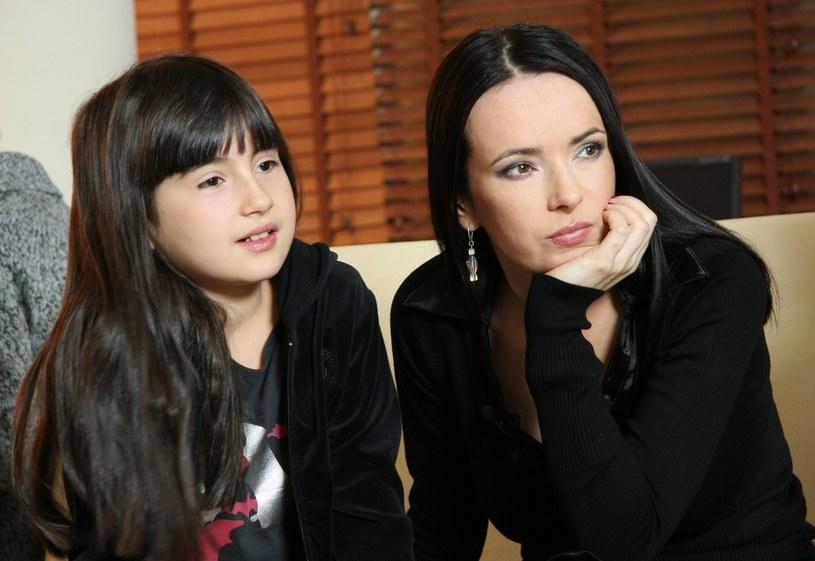 Kasia Kowalska z córką Olą /Bartosz Krupa /East News