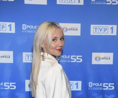 Kasia Moś na konferencji przed Festiwalem w Opolu 2018