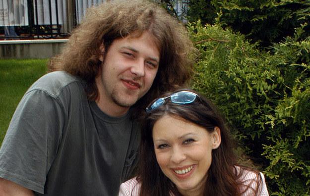 Kasia Pietras z mężem Kamilem Wyzińskim /Zawada /AKPA
