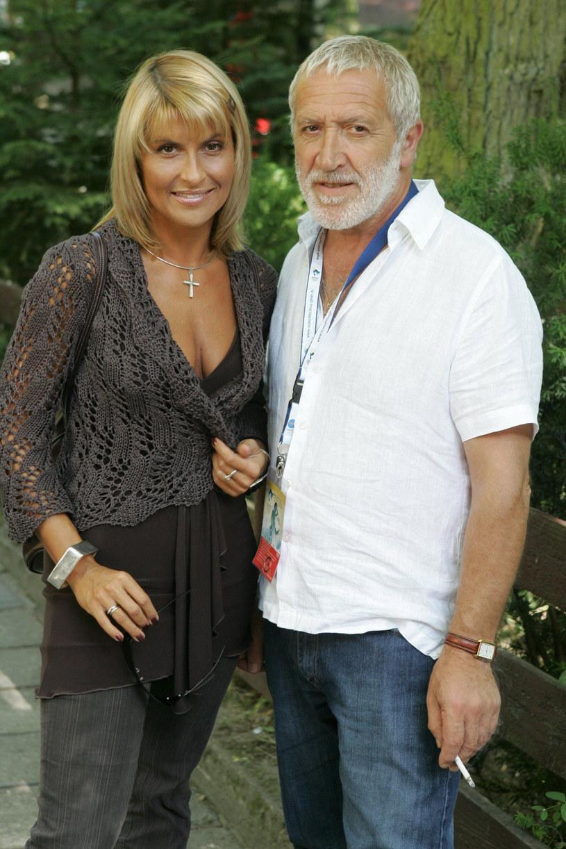 Kasia Skrzynecka i Gordon Haskell w 2005 roku w Sopocie / PIOTR GRZYBOWSKI / AGENCJA SE / East News