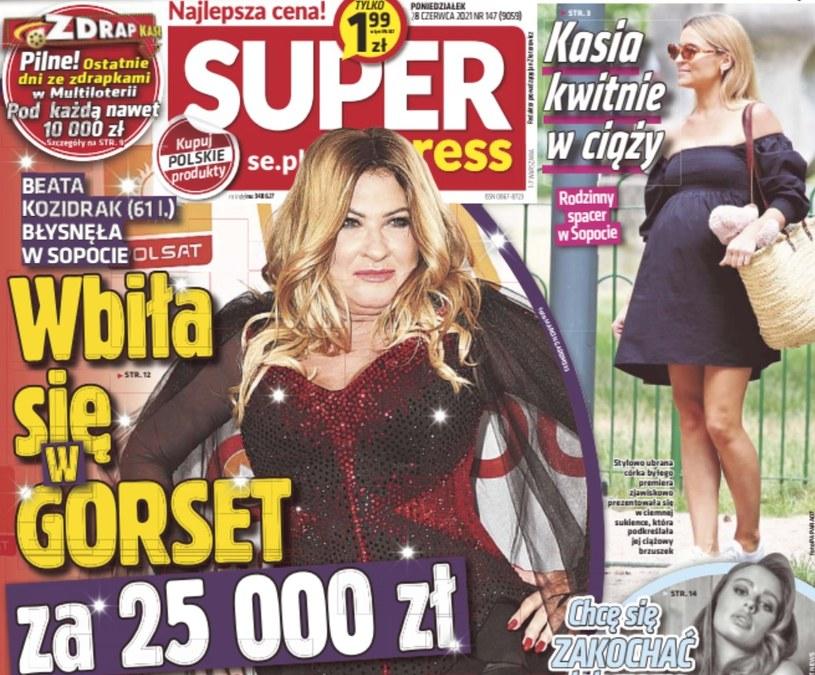 """Kasia Tusk kwitnie na okładce """"Super Expressu"""" /materiał zewnętrzny"""