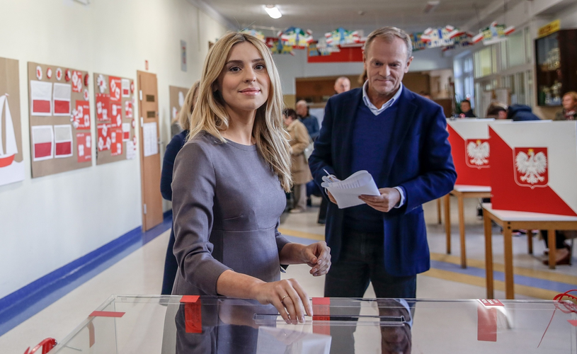 Kasia Tusk podczas głosowania /Karolina Misztal /Reporter