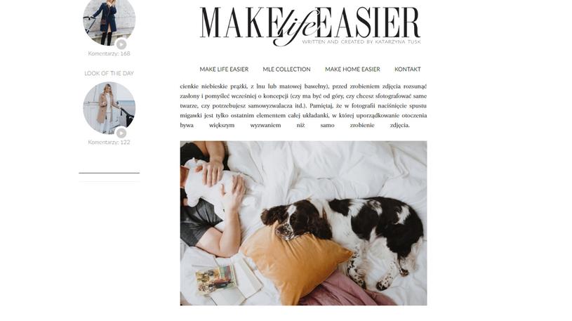 Kasia Tusk pokazała urocze zdjęcie/screenshot z jej bloga /https://makelifeeasier.pl/ /
