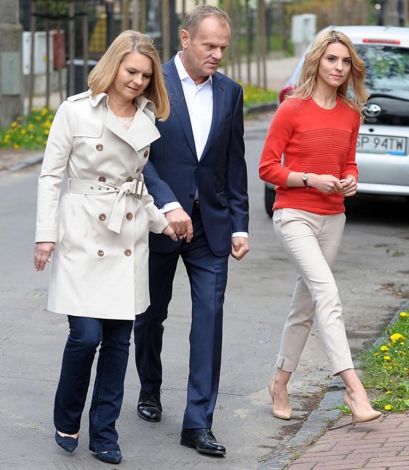 Kasia Tusk z rodzicami /Piotr Matusewicz /East News
