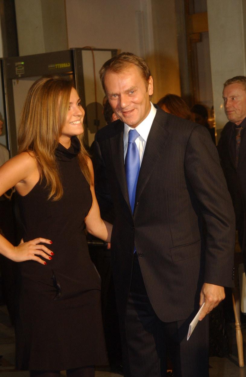 Kasia Tusk ze swoim tatą Donaldem /MWMedia