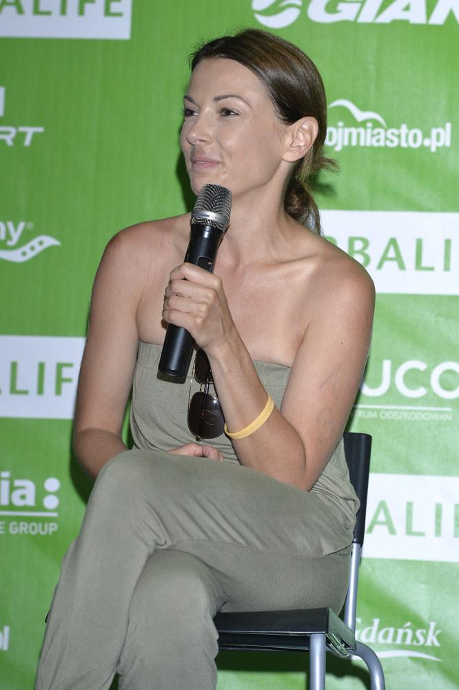 Kasia wzięła ostatnio udział w triathlonie /Piętka Mieszko /AKPA