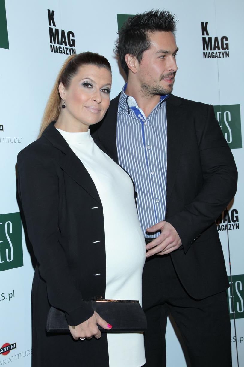 Kasia z mężem kilka lat temu /VIPHOTO /East News