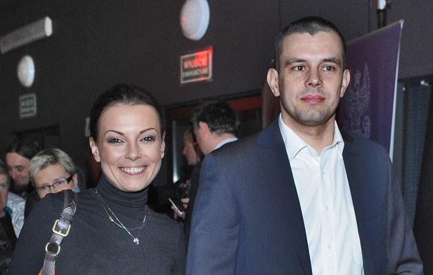 Kasia z mężem, Przemysławem Gołdoniem. Fot. Andras Szilagyi  /MWMedia