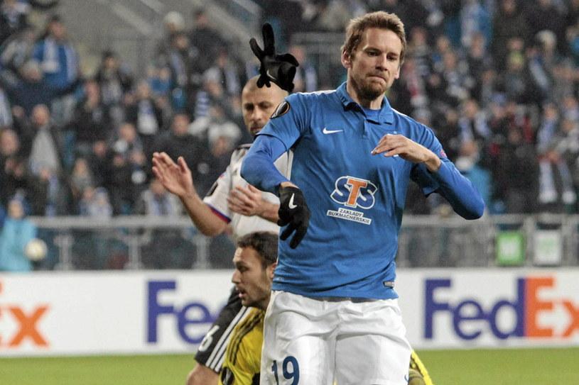 Kasper Hamalainen grał w Lechu trzy lata. Strzelił 40 bramek, zdobył mistrzostwo i Superpuchar Polski /Piotr Skórnicki /