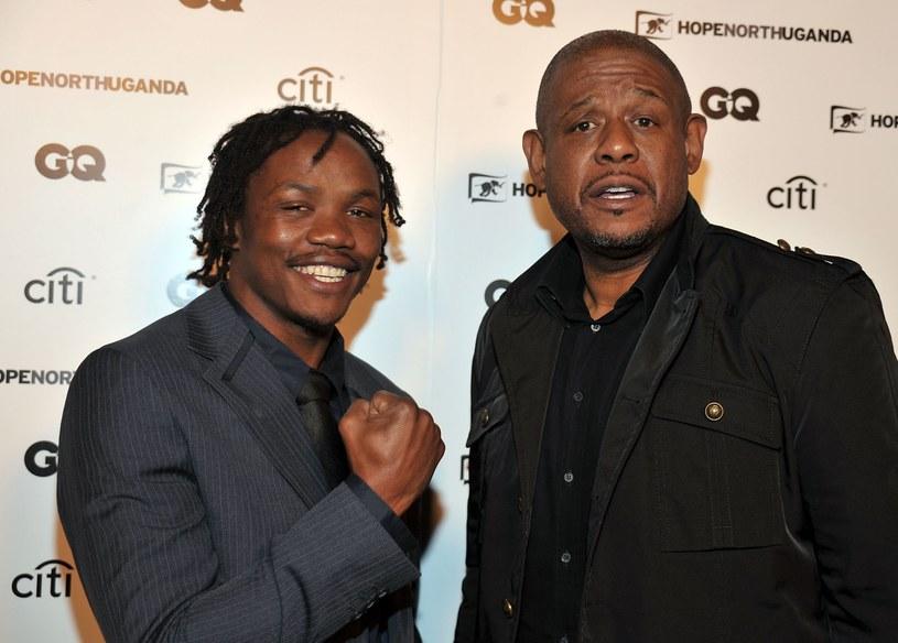 """Kassim Ouma i Forest Whitaker, podczas premiery filmu dokumentalnego """"Kassim the Dream"""" /Frazier Harrison /Getty Images"""