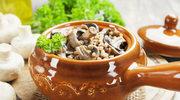 Kasza z boczkiem i grzybami