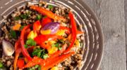 Kaszotto na pieczonych warzywach