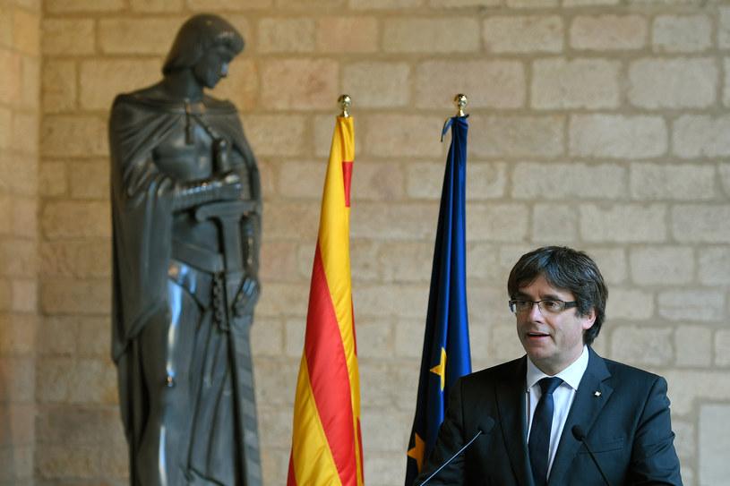 Kataloński przywódca Carles Puigdemont powiedział w czwartek /AFP