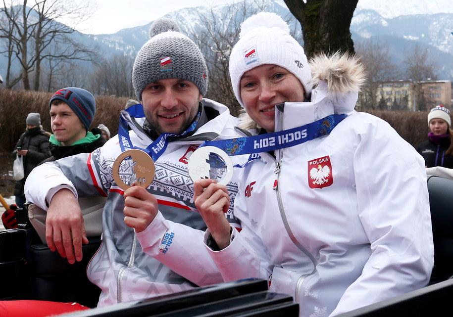 Katarzyna Bachleda-Curuś i Konrad Niedźwiedzki /Grzegorz Momot /PAP