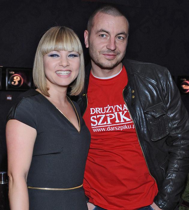 Katarzyna Bujakiewicz z partnerem Piotrem /Andras Szilagyi /MWMedia