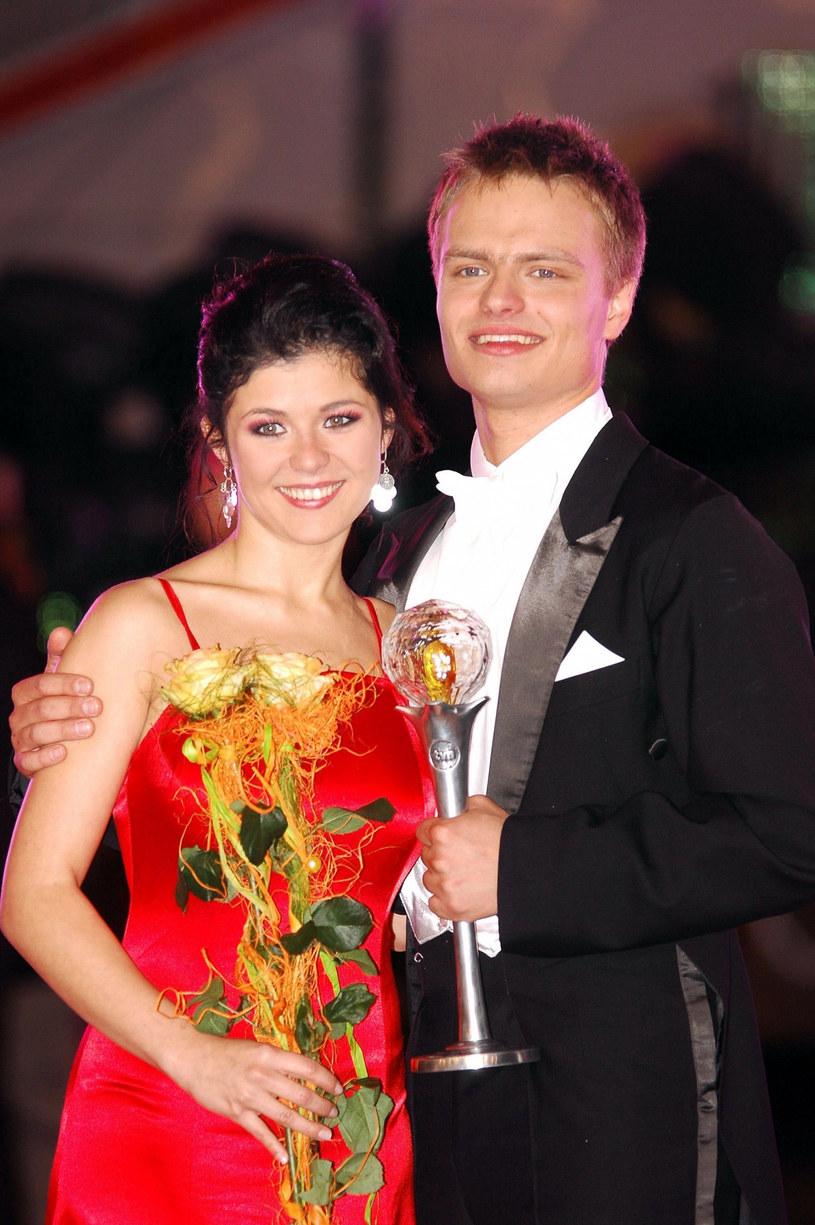 Katarzyna Cichopek i Marcin Hakiel w 2006 roku /Łukasz Ostalski /East News