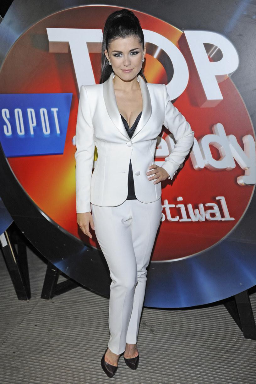 Katarzyna Cichopek w roku 2010 podczas festiwalu Top Trendy /Michal Baranowski /AKPA