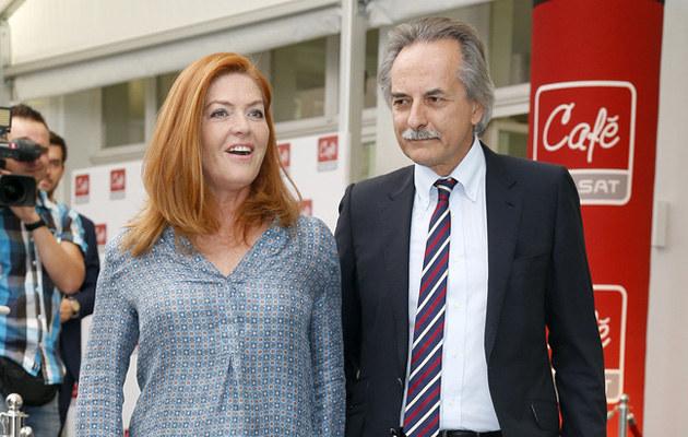Katarzyna Dowbor i Adam Torbicki na konferencji prasowej /Podlewski /AKPA