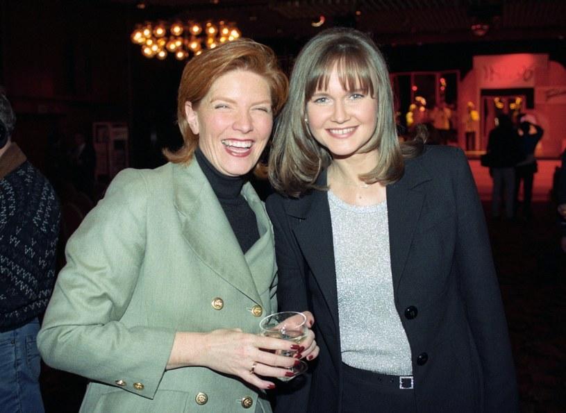 Katarzyna Dowbor i Grażyna Torbicka w 1996 roku na gali wręczenia Wiktorów /Zenon Zyburtowicz /East News