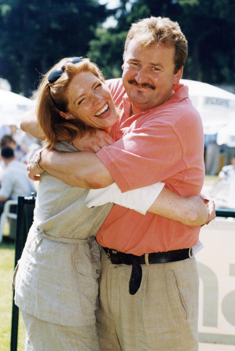 Katarzyna Dowbor i Grzegorz Świątkiewicz, lata 90. /Zenon Zyburtowicz /East News