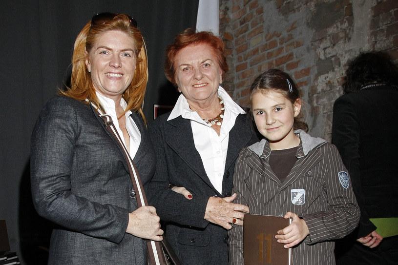 Katarzyna Dowbor z mamą Krystyną i córką Marysią / Engelbrecht /AKPA