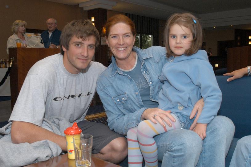 Katarzyna Dowbor z synem Maciejem i córką Marysią /Niemiec /AKPA