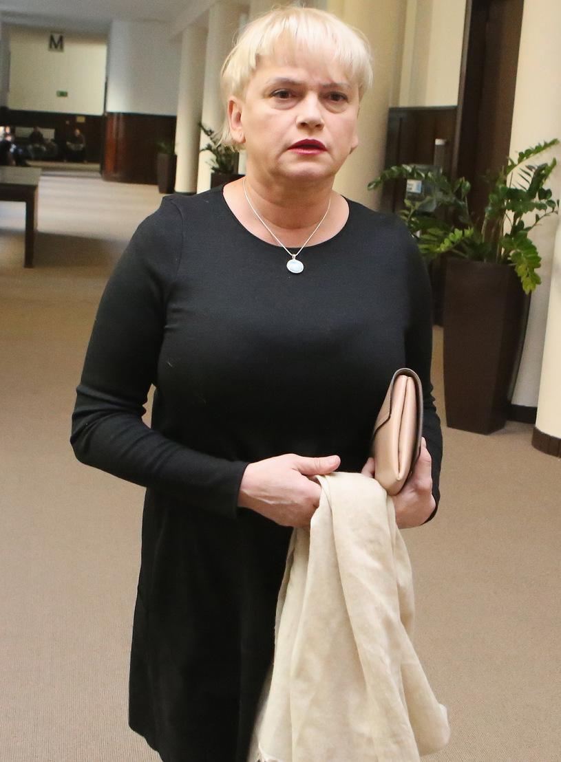 Katarzyna Figura w sądzie /Marcin Smulczyński /East News