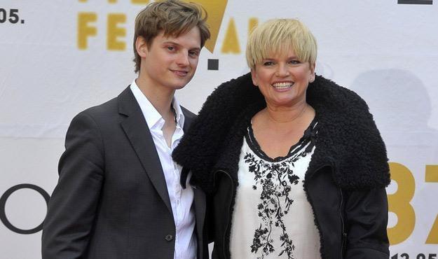 Katarzyna Figura z synem Aleksandrem na festiwalu w Gdyni /AKPA