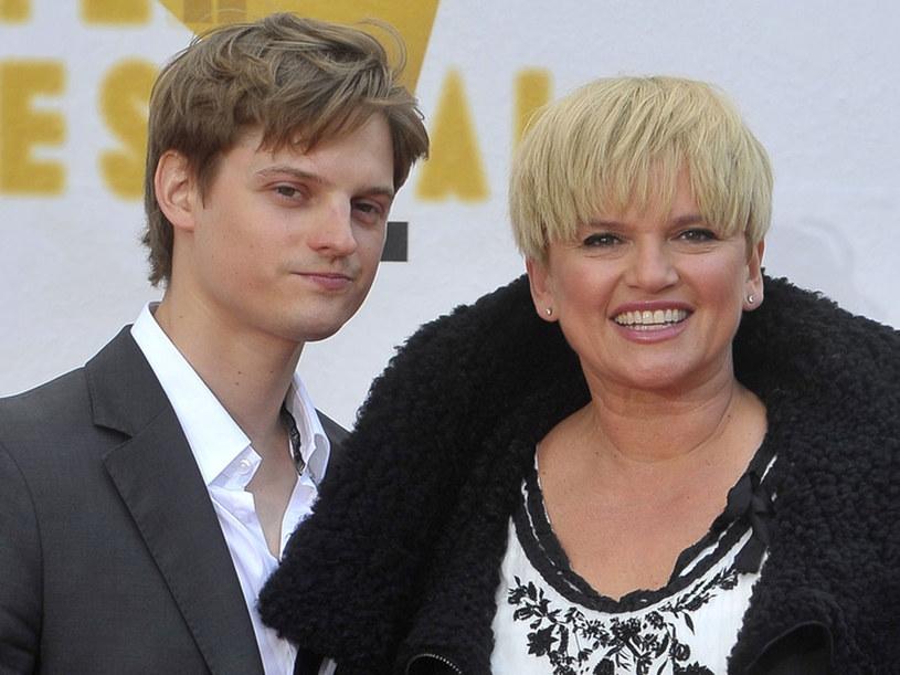 Katarzyna Figura z synem Alexandrem Chmielewskim /Jacek Kurnikowski /AKPA