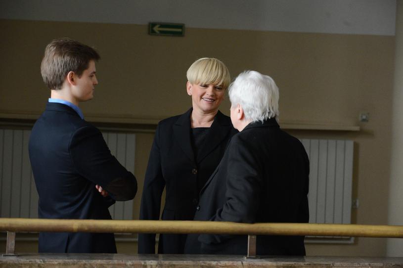 Katarzyna Figura z synem i mamą /East News