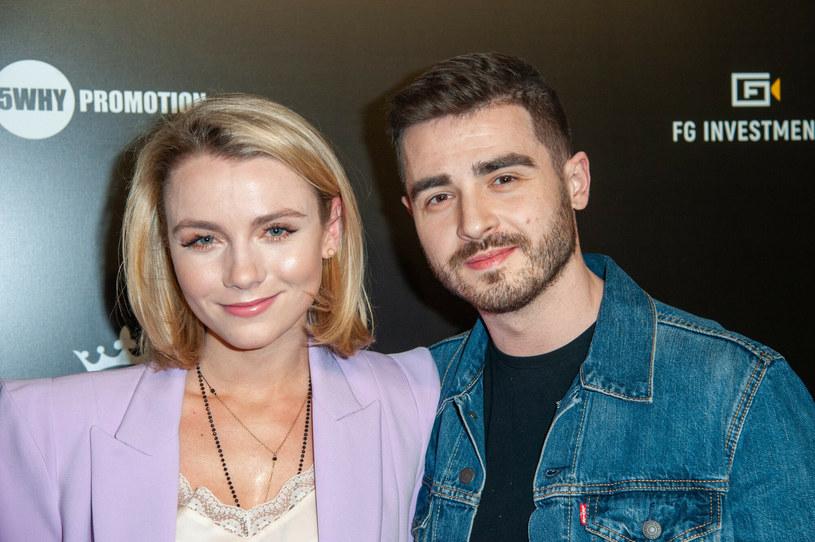 Katarzyna Grabowska z mężem /East News