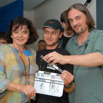 Katarzyna Grochola i reżyser Denis Delić: początek zdjęć - fot. Krzysztof Jarczewski /