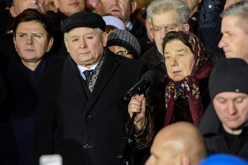Katarzyna Łaniewska na manifestacji PiS /Mariusz Gaczyński /East News