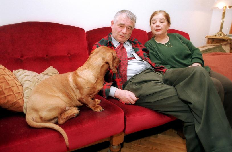 Katarzyna Łaniewska z mężem, 2004 rok /MICHAL KULAKOWSKI/REPORTER /East News