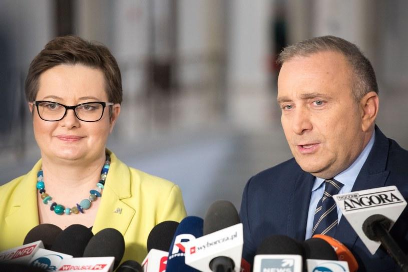 Katarzyna Lubanuer i Grzegorz Schetyna /Pawel Wisniewski /East News