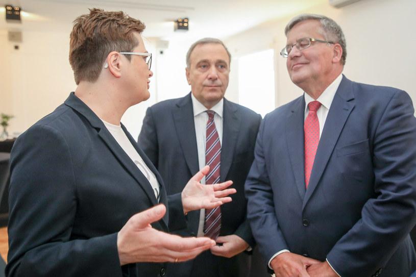 Katarzyna Lubnauer, Grzegorz Schetyna, Bronisław Komorowski /Andrzej Iwańczuk /Reporter