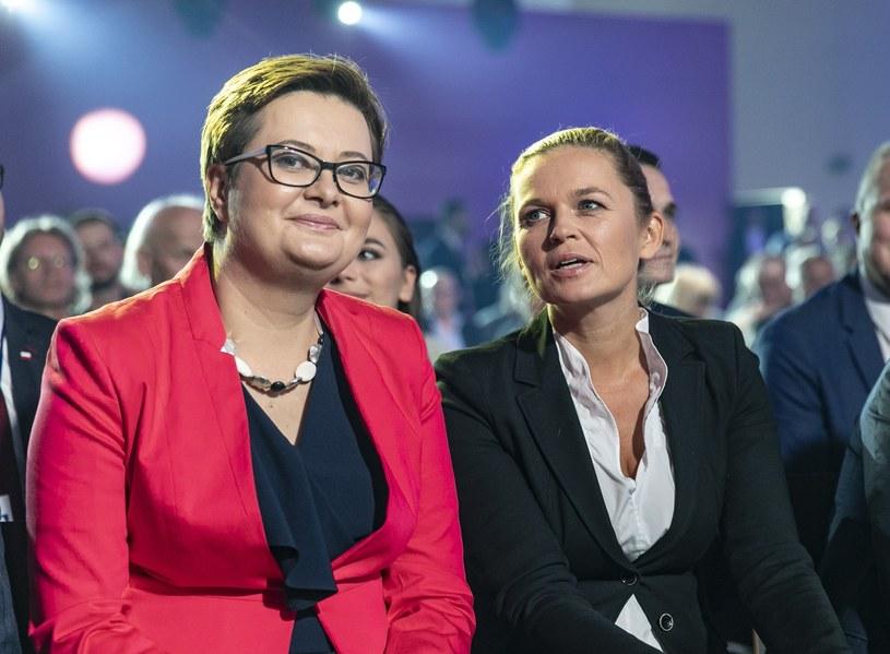 Katarzyna Lubnauer i Barbara Nowacka /Leszek Kotarba  /East News