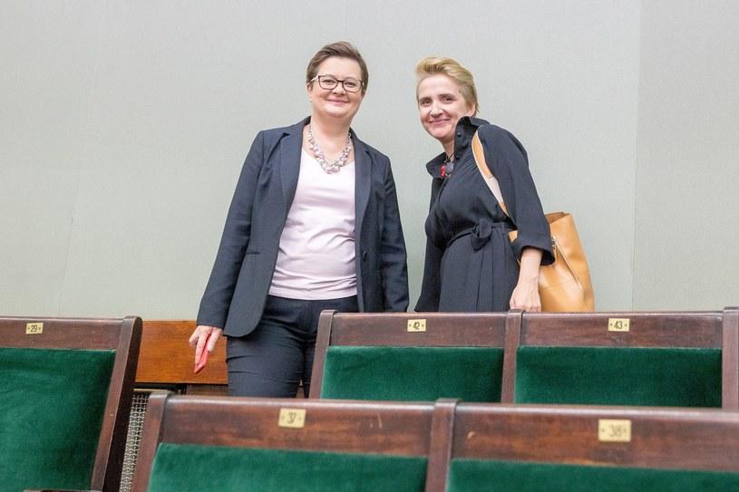 Katarzyna Lubnauer i Joanna Scheuring-Wielgus /Andrzej Iwańczuk /Reporter