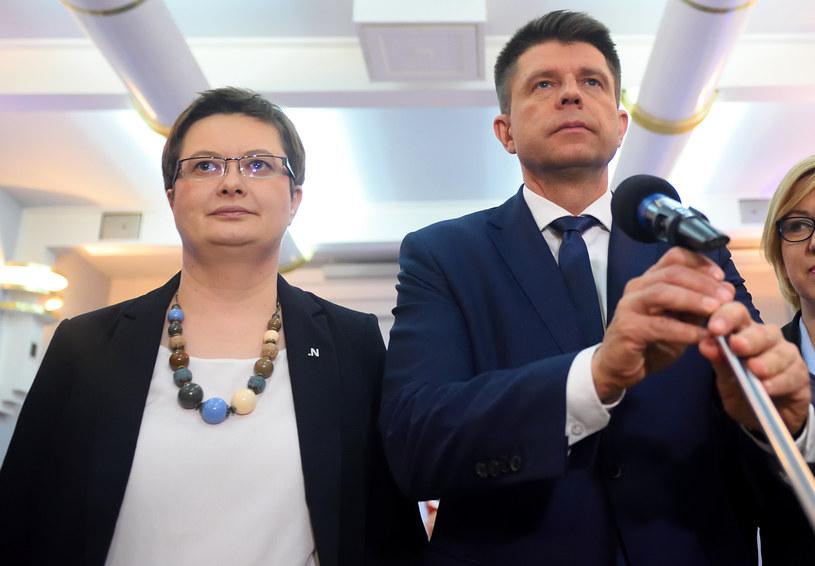 Katarzyna Lubnauer i Ryszard Petru /Adam Chelstowski /Agencja FORUM