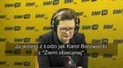"""Katarzyna Lubnauer: Jestem z Łodzi jak Karol Borowiecki z """"Ziemi obiecanej"""". I ja tu chcę zbudować wielki interes, wielką fabrykę"""