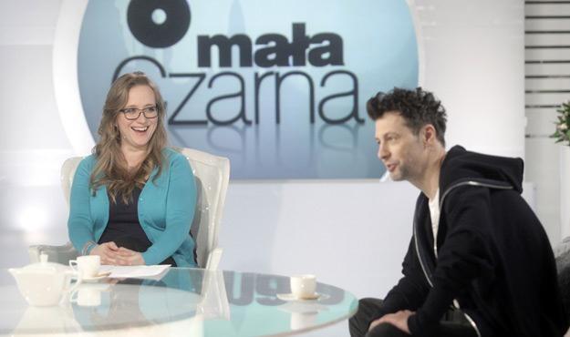 Katarzyna Montgomery i Szymon Majewski na planie programu /materiały programowe