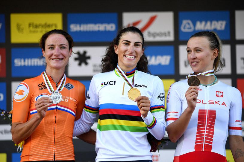 Katarzyna Niewiadoma stanęła na podium /Tim de Waele /Getty Images